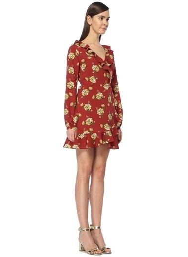 V Yaka Mini Anvelop Elbise-Scenario